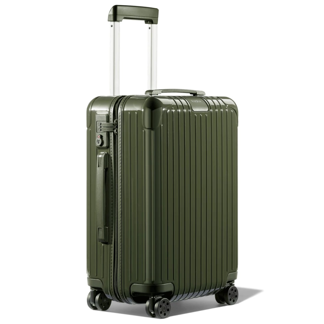 Rimowa Essential Cabin rolling suitcase in green, best rolling suitcases