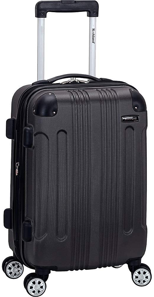Grey Rockland London Hardside Spinner Rolling Suitcase, best rolling suitcases
