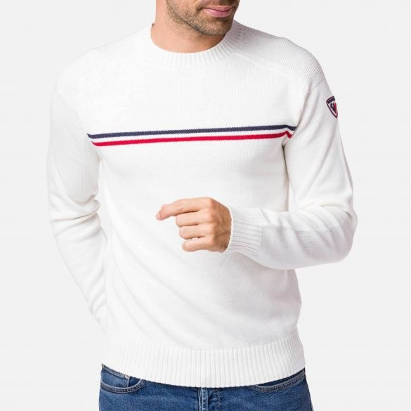 Rossignol-Odysseus-Crewneck-Sweater solid with a stripe