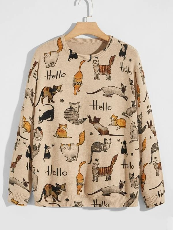 SHEIN-Cat-and-Letter-Pattern-Sweater