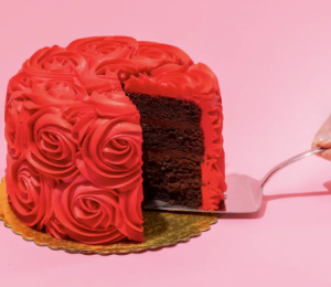 Goldbelly red roses cake, date ideas