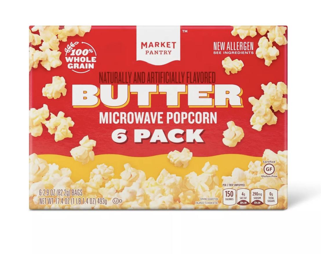 Market Pantry Butter Microwave Popcorn