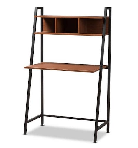 Baxton Studio Rectangular Ladder Desks with Storage