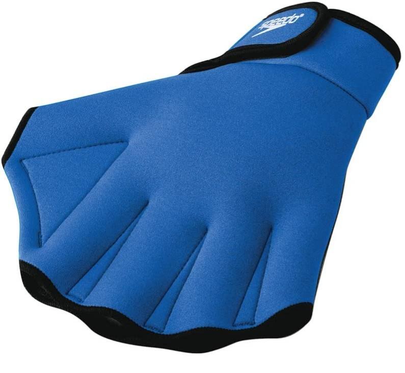 Speedo blue Aqua Fit Swim Training Glove with velcro strap