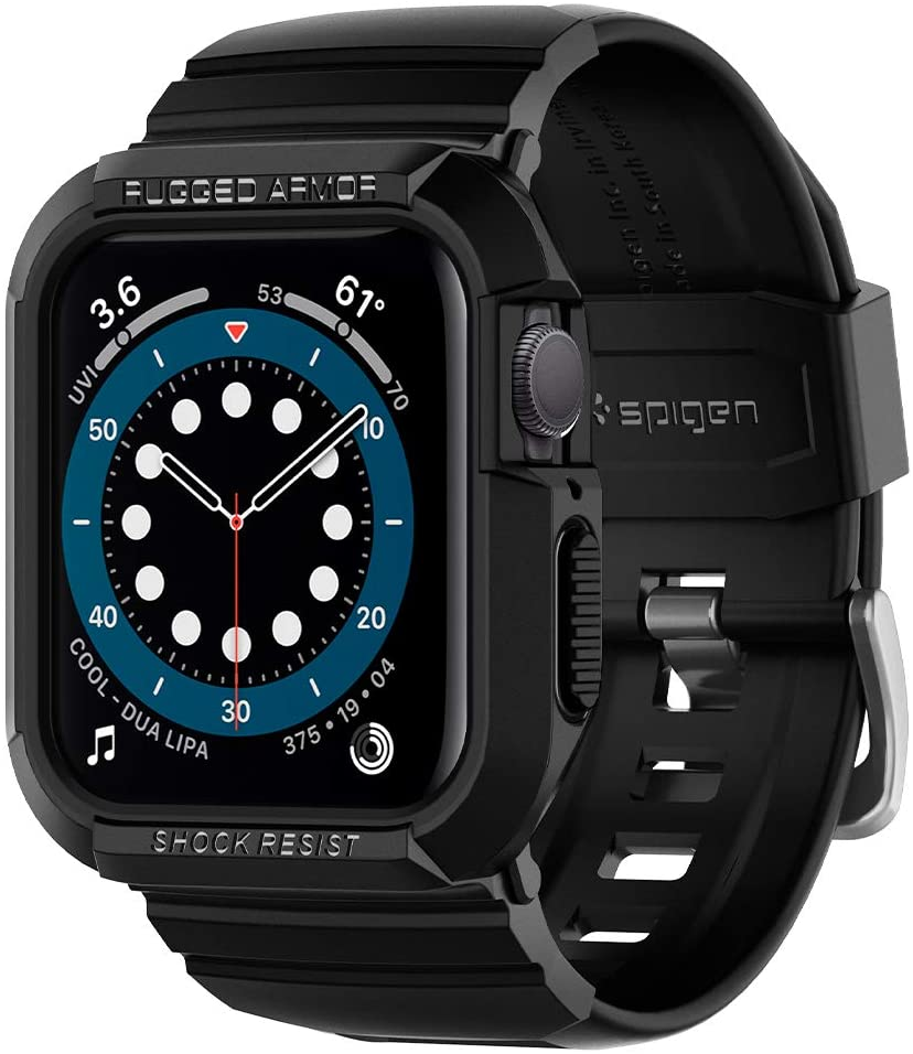 Spigen Rugged Armor Pro Designed for Apple Watch Band with Case