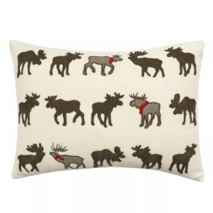 christmas decorations sale st nicholas square appliqued moose throw pillow