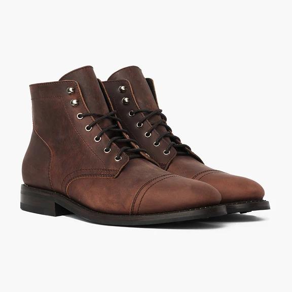 Thursday Boots brown Captain lace up boots