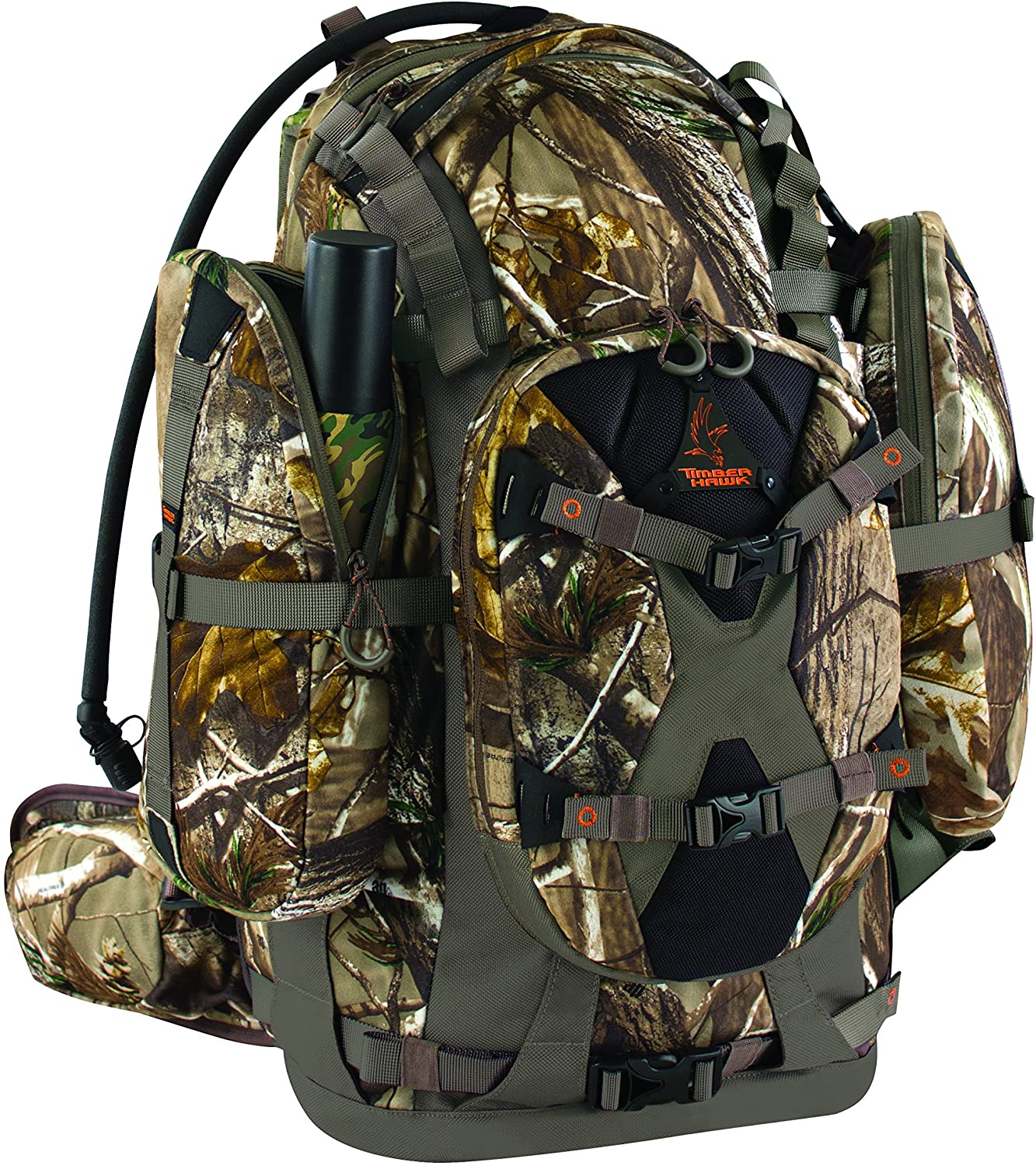 Timber Hawk Hillshot Hunting Backpack in wood camoflauge