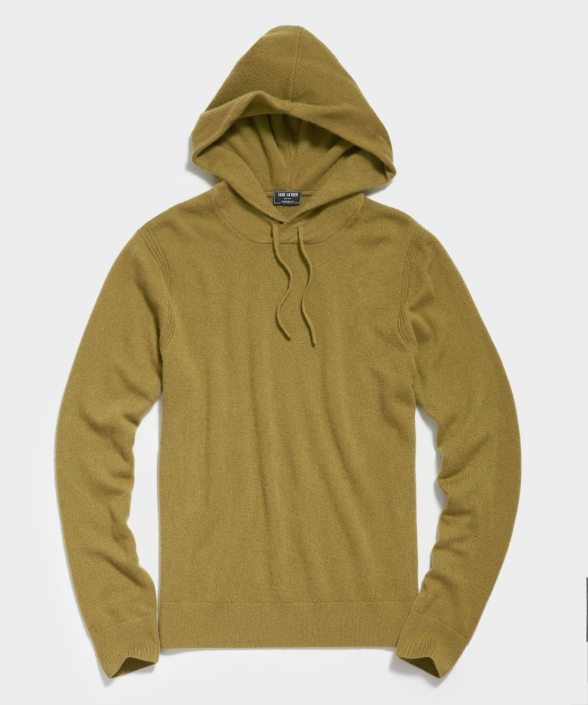 Todd Snyder Cashmere Hoodie, best mens sweaters