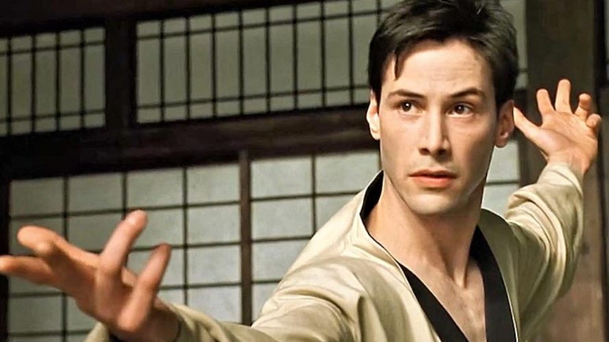 Keanu Reeves in The Matrix martial