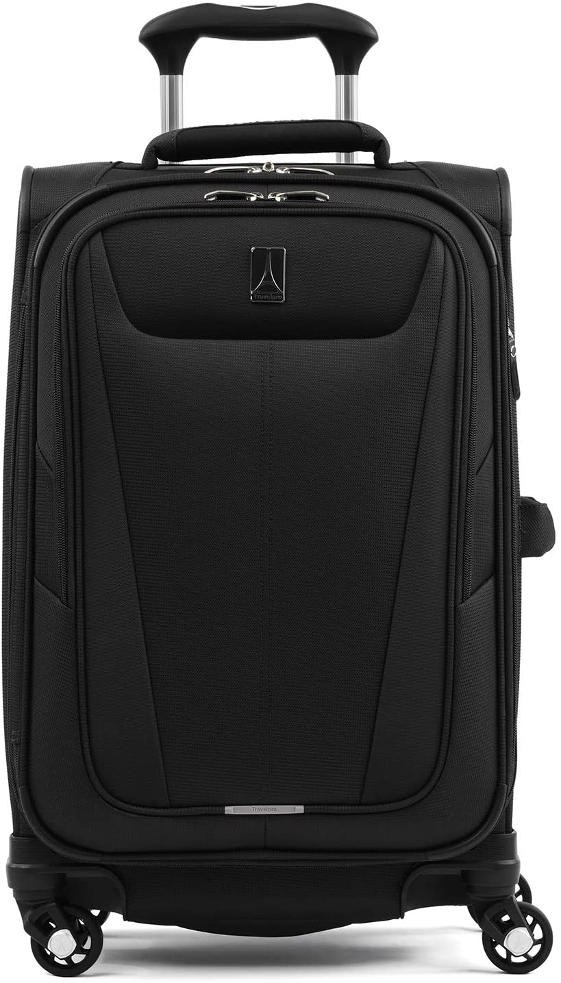 Black Travelpro Maxlite 5 Softside Expandable Spinner Rolling Suitcase