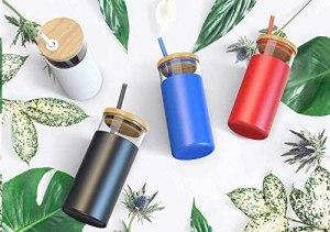 Tronco glass water bottle