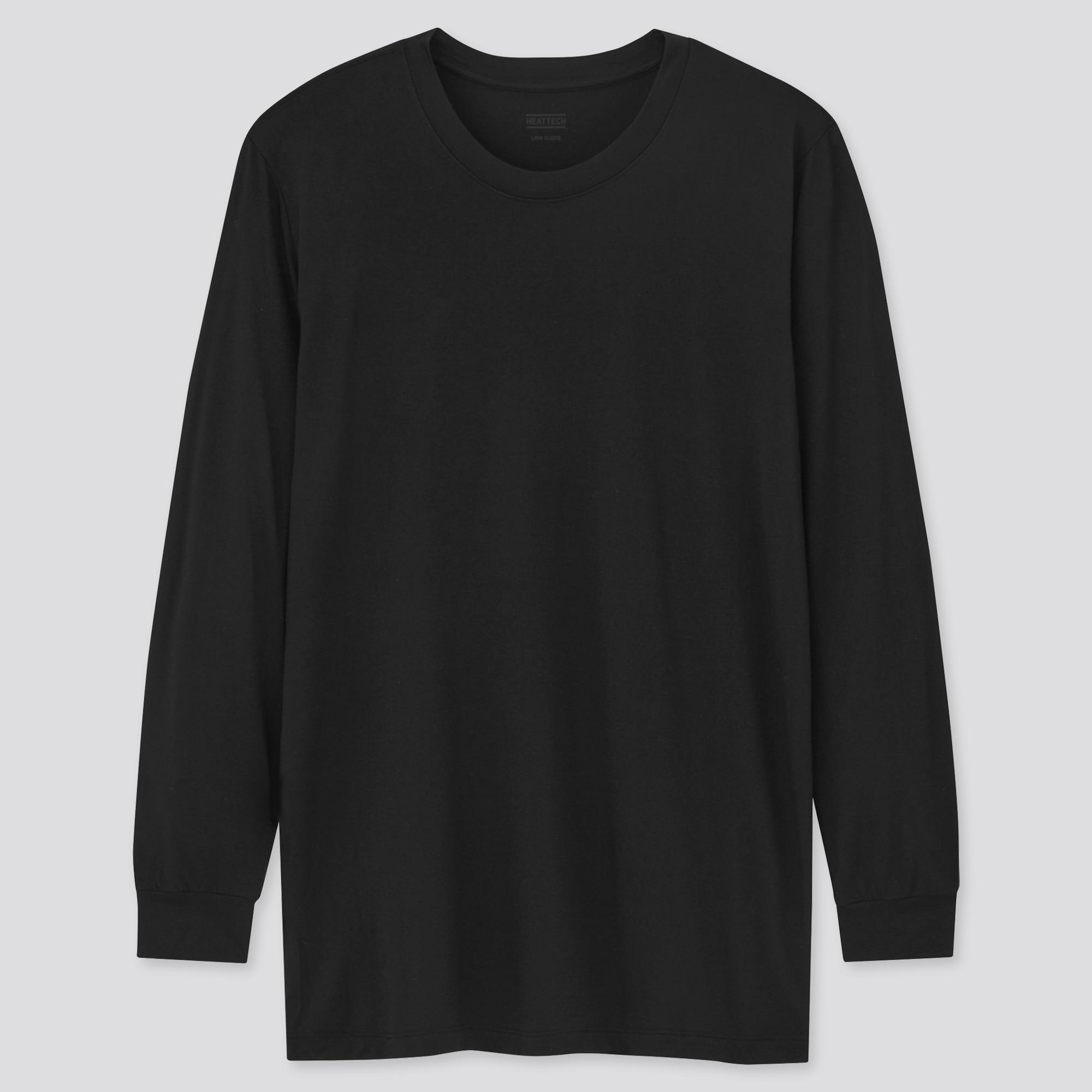 Uniqlo Men's Heattach crew neck long-sleeve shirt