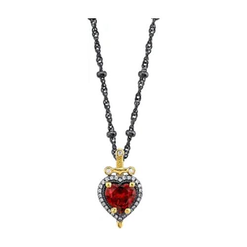 RockLove Dagger Heart Necklace