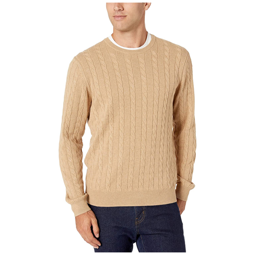 Amazon-Essentials-Mens-Crewneck-Cable-Cotton-Sweater