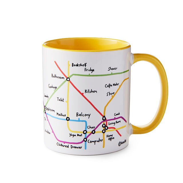 Work From Home Commuter Funny Mug