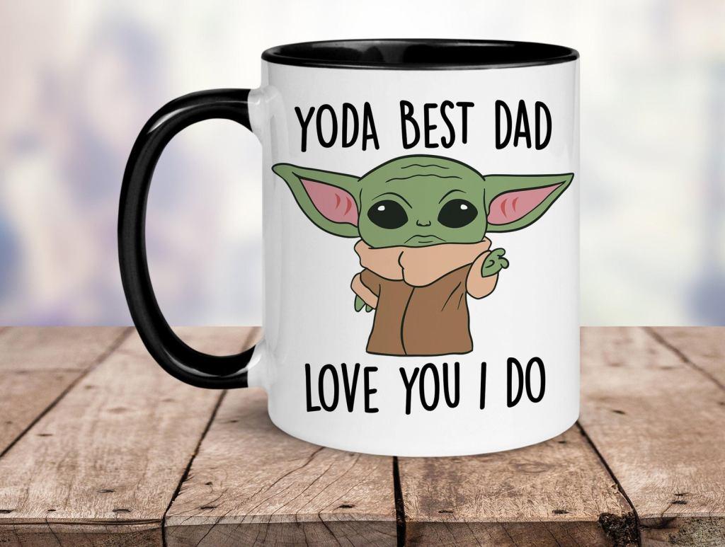 Yoda Best Dad Mug, funny Baby Yoda mug