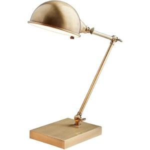 Mercer41 Hammes 17'' Brass Desk Lamp