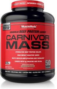 MuscleMeds carnivor mass gainer supplement, best mass gainer