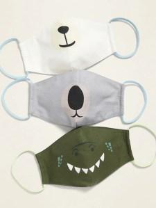 Old Navy critters kids face masks