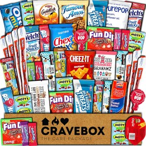 CraveBox snack box, gift basket, best gift baskets
