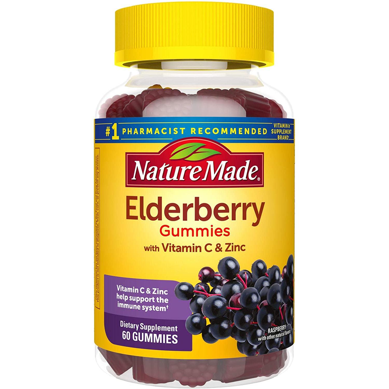 Nature Made Elderberry 100mg with Vitamin C & Zinc Gummies