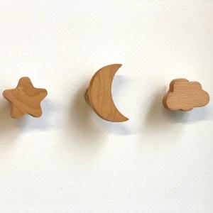 Wooden Nursery Hooks