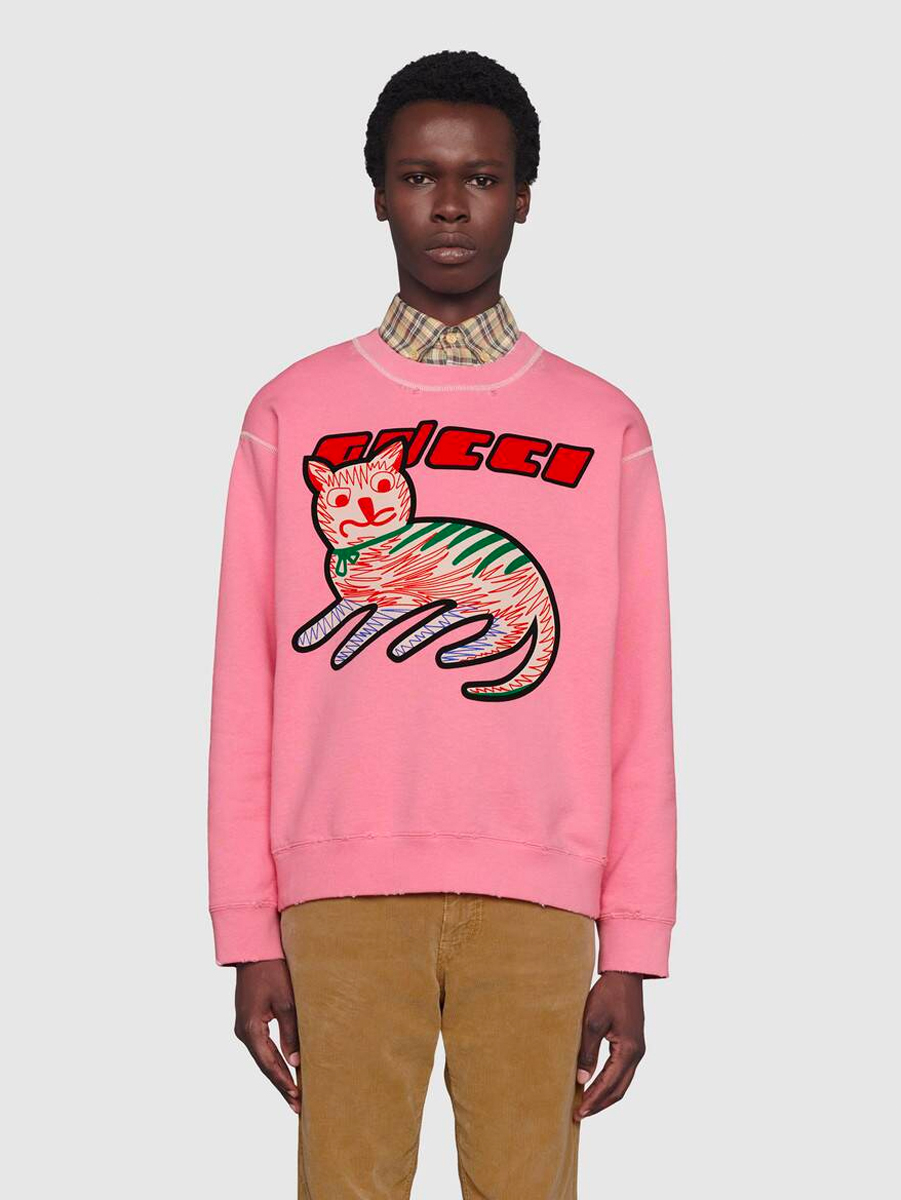 gucci cat sweatshirt for men