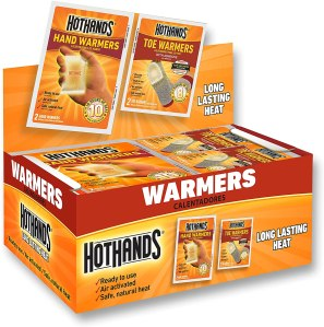 hothands warmers, exercising outdoors in the winter