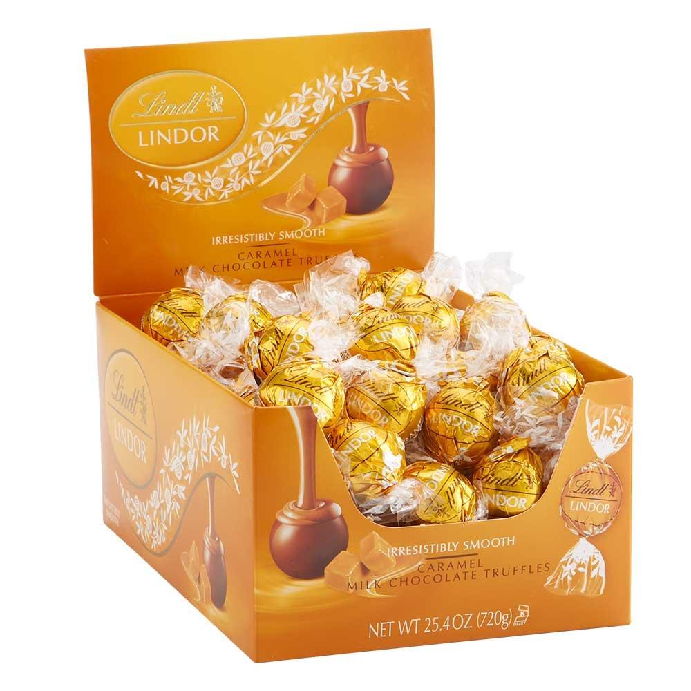 lindor caramel chocolate box for valentine's day