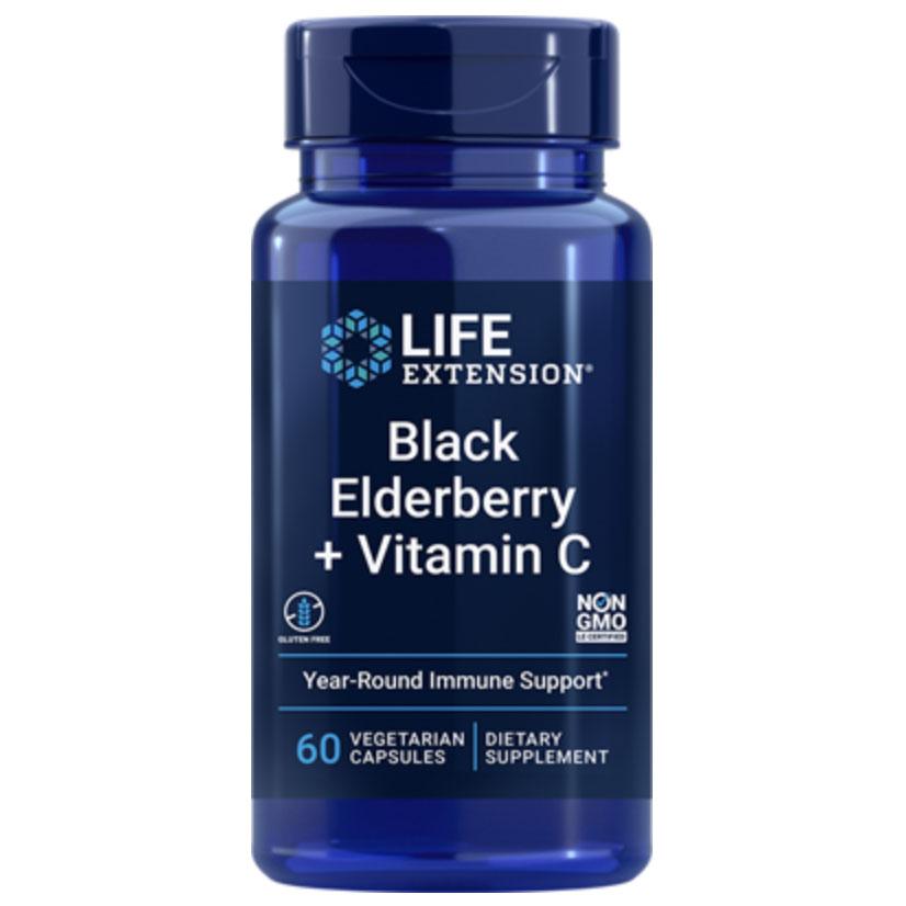 Life Extension Black Elderberry + Vitamin C
