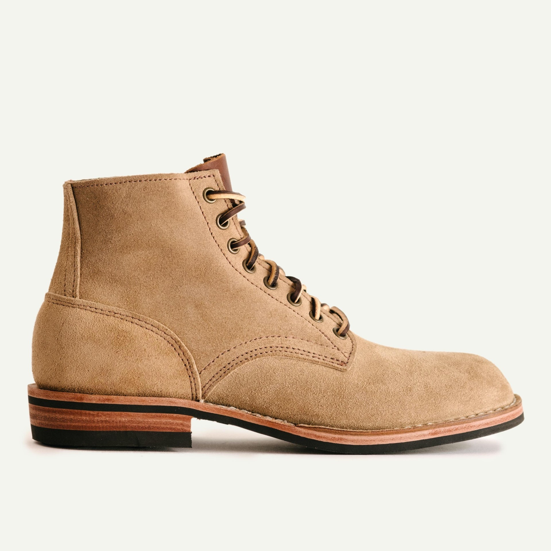 Oak Street Bootmakers beige rough leather storm boot