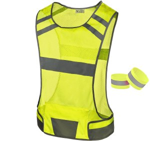reflective running vest, exercising outdoors in the winter