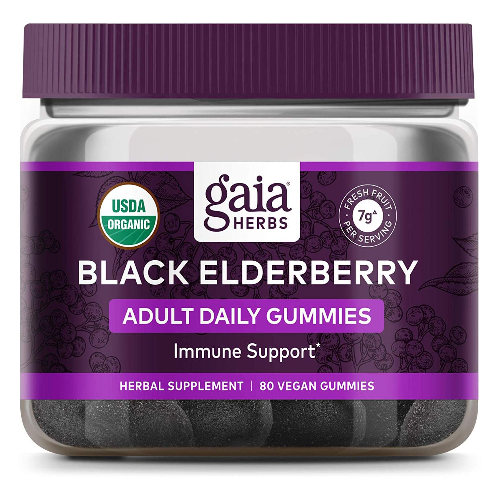 Gaia Herbs Everyday Elderberry Gummies