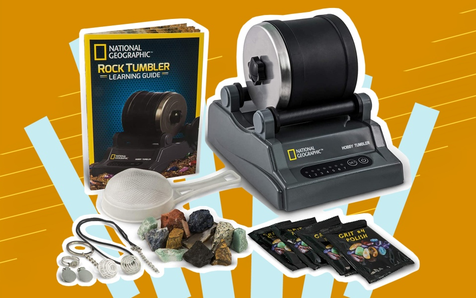 National Geographic's Hobby Rock Tumbler Kit