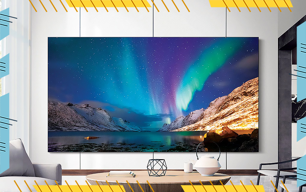samsung microled tv wall in living room