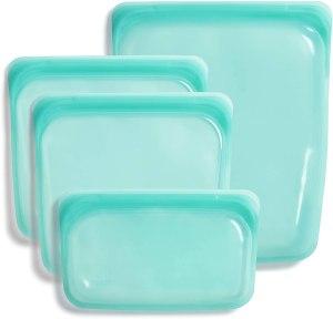 stasher silicone reusable bags, reusable produce bags
