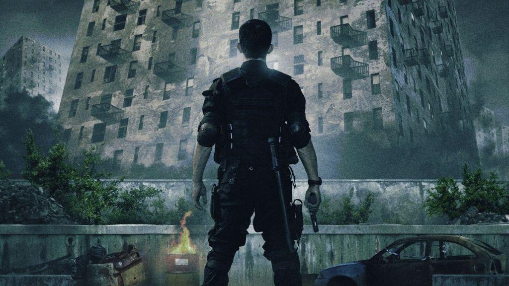 man outside building in raid martial arts movie