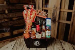 bro basket whiskey sampler basket, best gift baskets