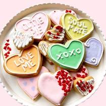 Valentine's Day sugar cookie platter, Valentine's Day gifts