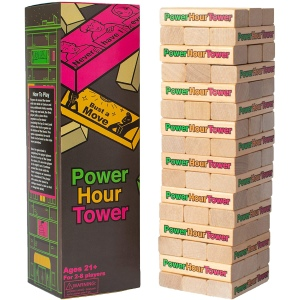 Power Hour Tower Party Game, best jenga drinking game