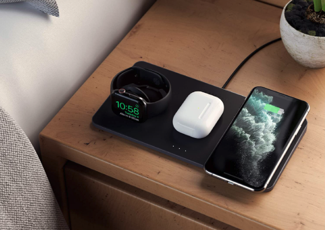 items charging on wireless charger