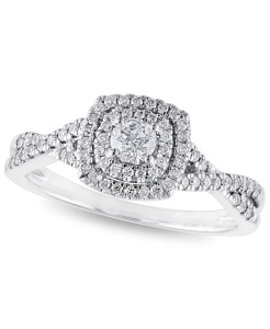 Macy's certified diamond engagement ring, engagement rings under $1,000