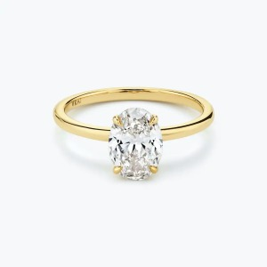 Vrai the signature oval engagement ring, engagement rings under 1000