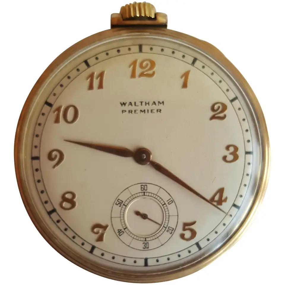 1940 Vintage Waltham Premier Pocket Watch