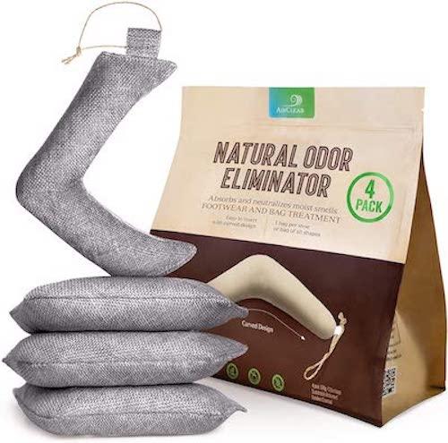 AirClear Bamboo Charcoal Shoe Deodorizer Bags