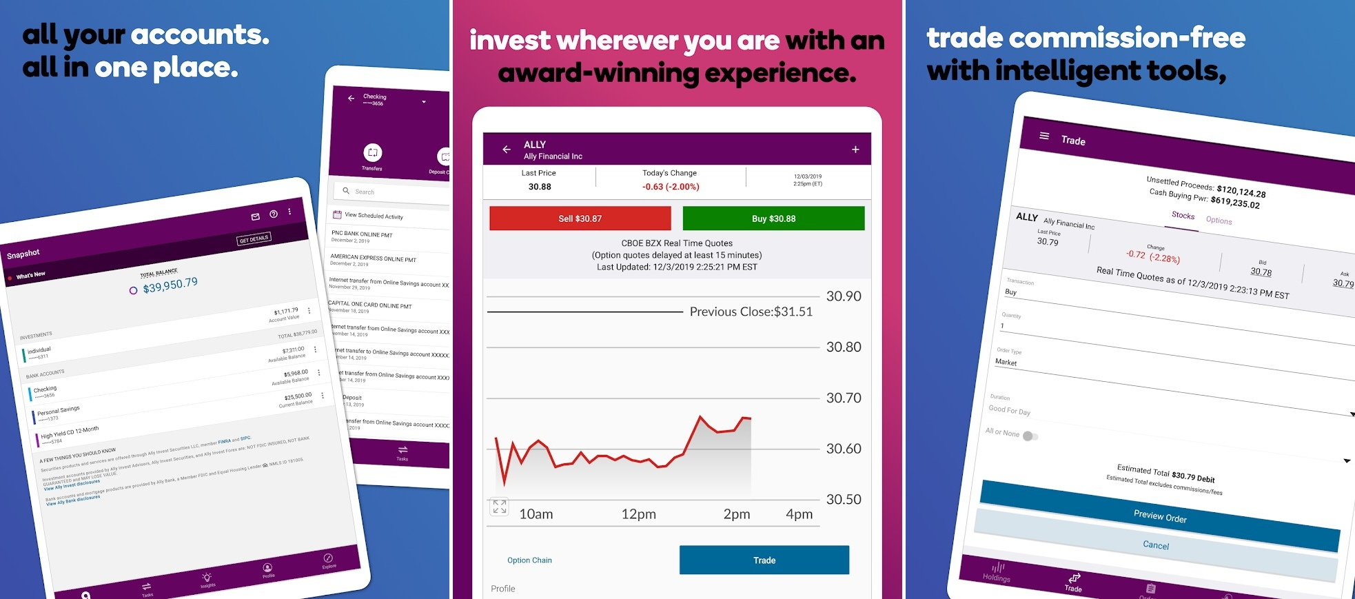 Screenshots of All Invest app, best investment apps, stock investment apps