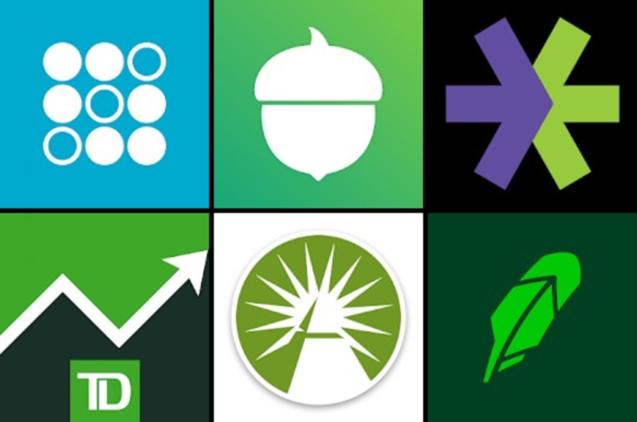 Logos of stock investment apps