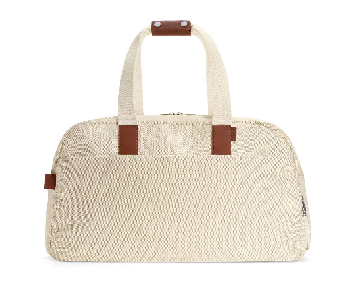 Away The Weekender in natural canvas