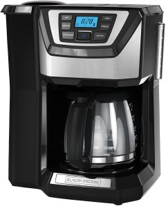 coffee machine with grinder black and decker 12 cup mill and brew